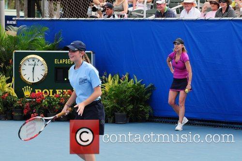 Celebrity Tennis Classic at Delray Beach Tennis Center....