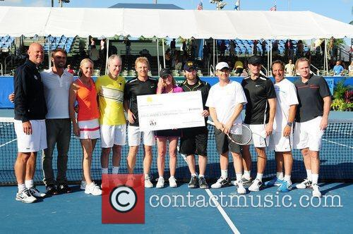 Murphy Jensen, Chris Evert, Christian Slater, David Cook, John Mcenroe, Jon Lovitz, Kevin Mckidd and Scott Foley 2