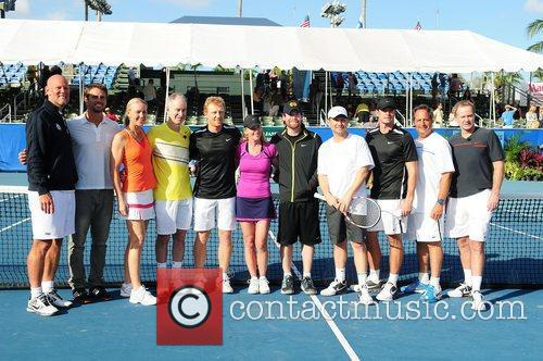 Murphy Jensen, Chris Evert, Christian Slater, David Cook, John Mcenroe, Jon Lovitz, Kevin Mckidd and Scott Foley 1