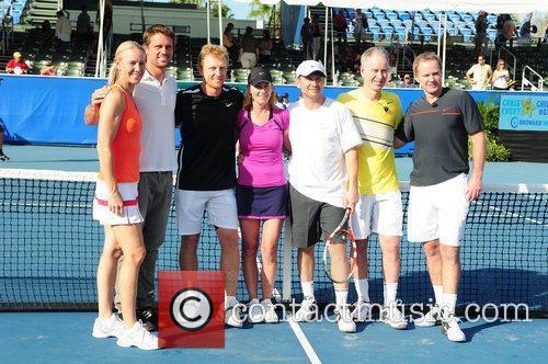 Kevin Mckidd, Chris Evert, Christian Slater and John Mcenroe 11