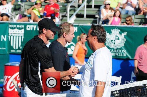 Scott Foley, Jon Lovitz and Patrick McEnroe at...