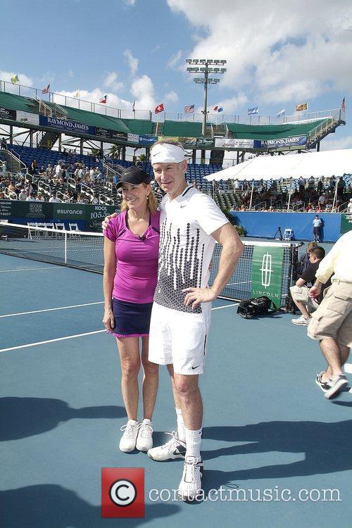 Chris Evert and John McEnroe at the Chris...