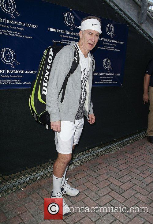 John McEnroe at the Chris Evert/Raymond James Pro-Celebrity...