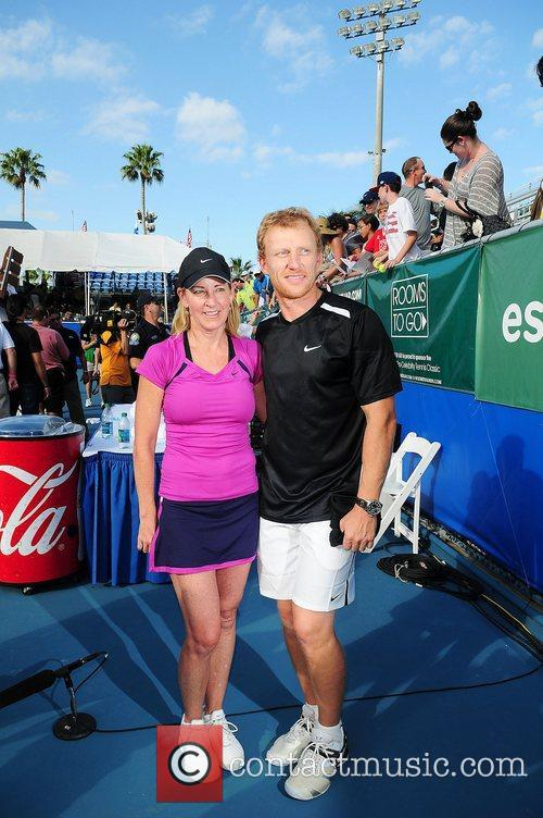 Kevin McKidd and Chris Evert at the Chris...