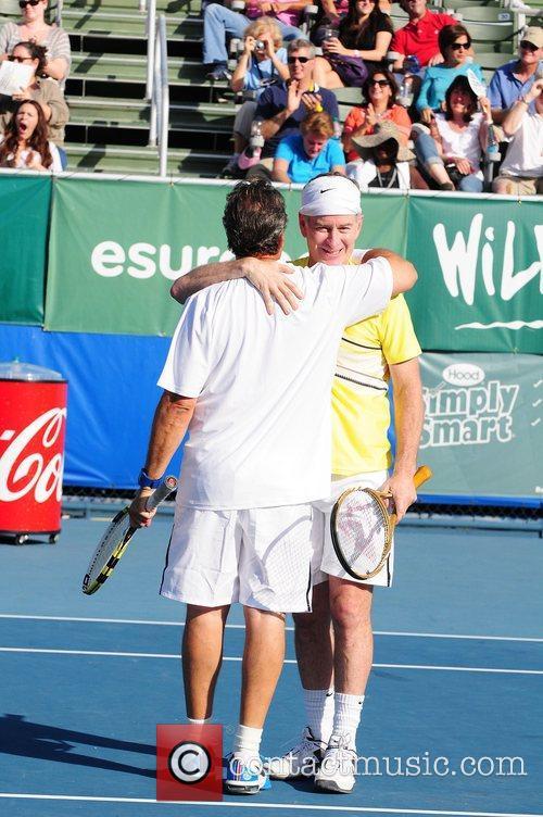 John McEnroe and Jon Lovitz at the Chris...
