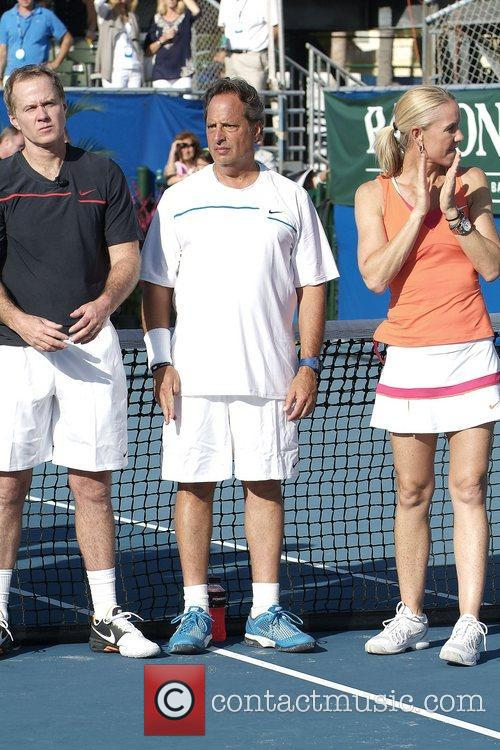 Patrick McEnroe, Jon Lovitz and Rennae Stubbs at...