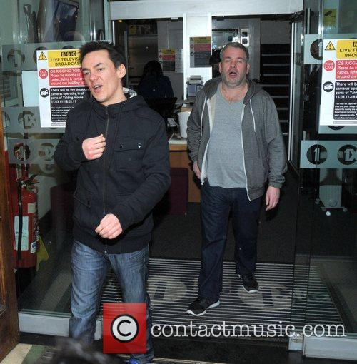 Dave Vitty, aka Comedy Dave, and Chris Moyles...