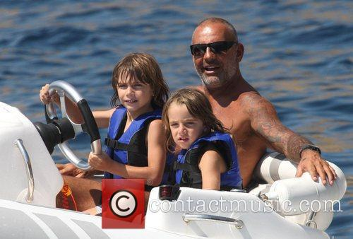 Christian Audigier and his sons  vacationing on...