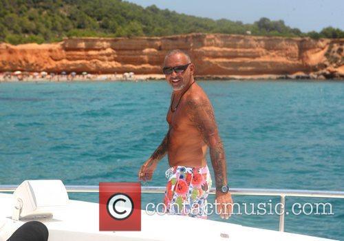 Chrisitan Audigier  vacationing on Audigier's private yacht...