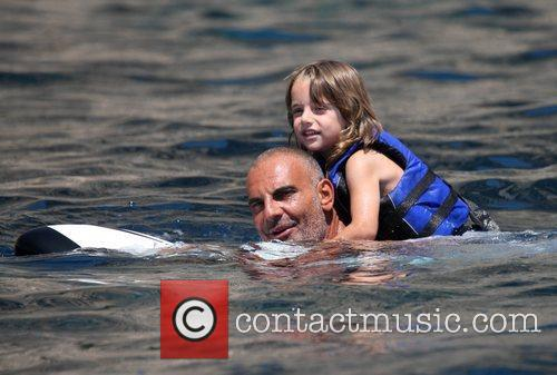 Christian Audigier and his son  vacationing on...