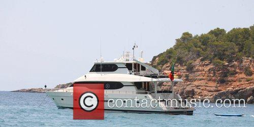 Christian Audigier's private yacht Ibiza, Spain