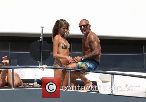 Christian Audigier and girlfriend Nathalie Sorensen  vacationing...