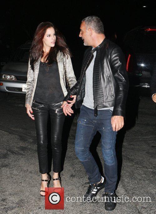Christian Audigier takes his girlfriend Nathalie Sorensen for...