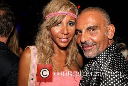 Christian Audigier hangs out in the VIP Area...