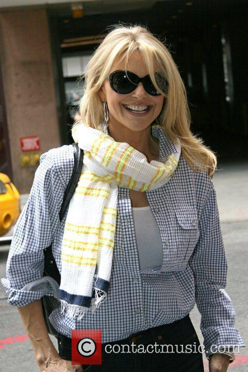 Christie Brinkley is seen arriving at the Ambassador...