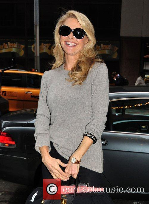 Christie Brinkley arrives at the Ambassador Theater to...