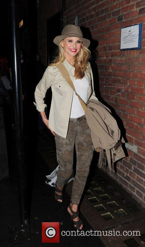 Christie Brinkley outside the Cambridge Theatre after her...