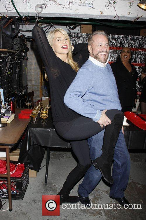 Christie Brinkley and Barry Weissler Backstage celebration with...