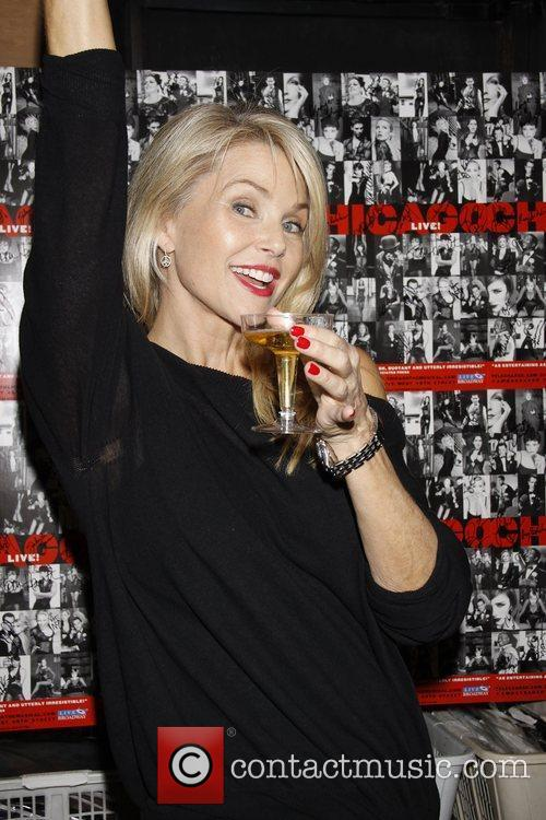Christie Brinkley Backstage celebration with the cast of...