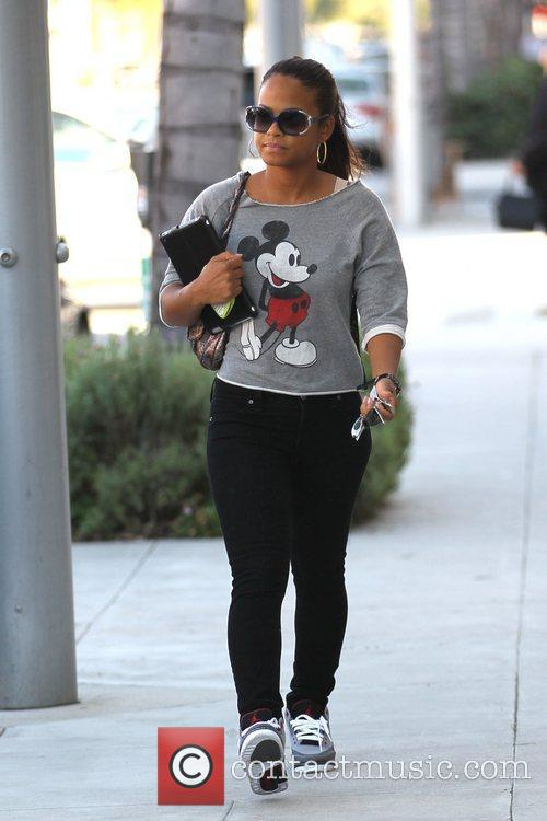 Christina Milian out shopping in Beverly Hills wearing...