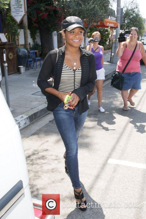 Christina Milian seen leaving the Little Next Door...