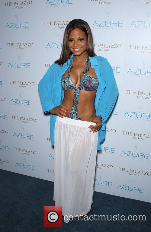 Christina Milian celebrates the end of summer at...