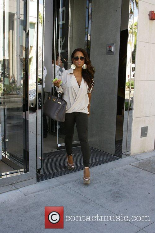 Christina Milian out shopping on Rodeo Drive Los...