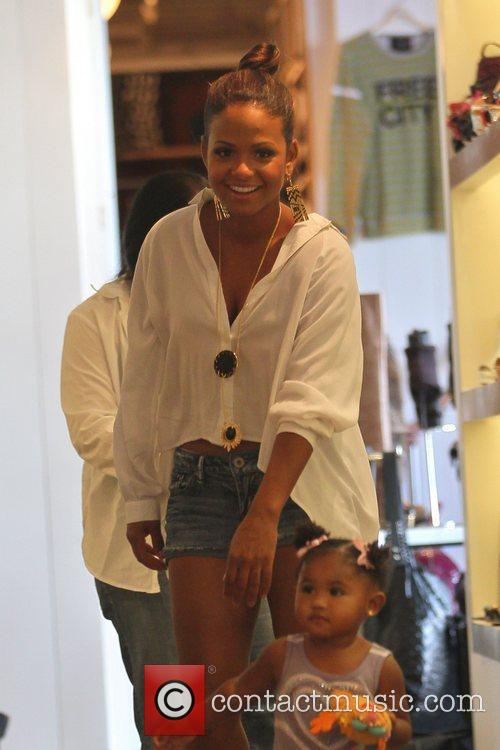 Christina Milian shopping at Fred Segal in Hollywood...