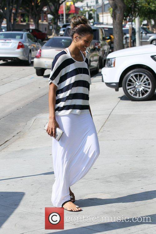 Arrives at Kinara Spa in West Hollywood and...
