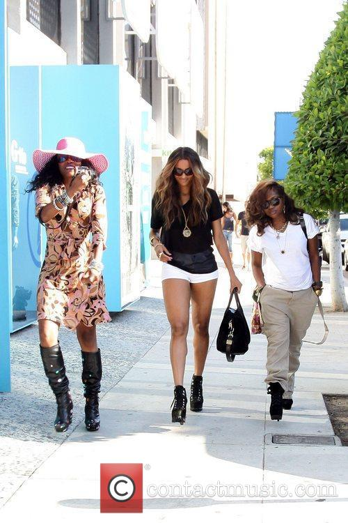 Ciara is seen out and about with friends...