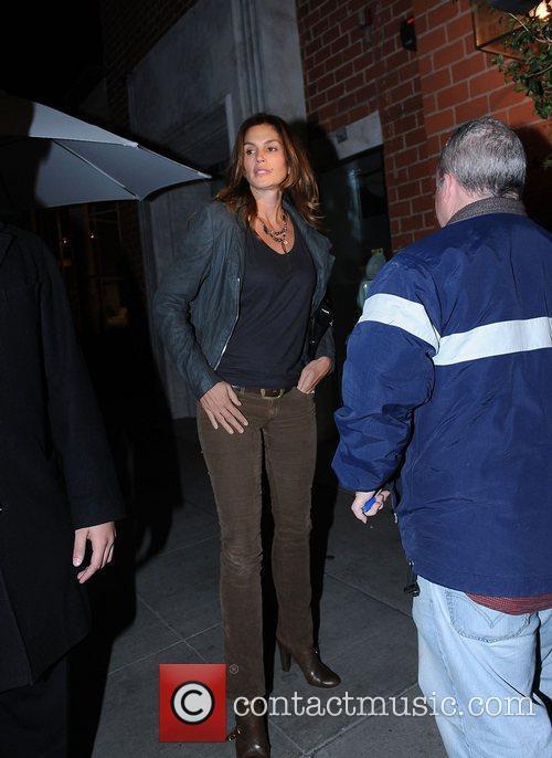 Cindy Crawford leaving Mr Chow restaurant  Los...