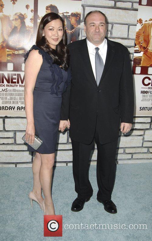 Deborah Lin, James Gandolfini Los Angeles Premiere of...