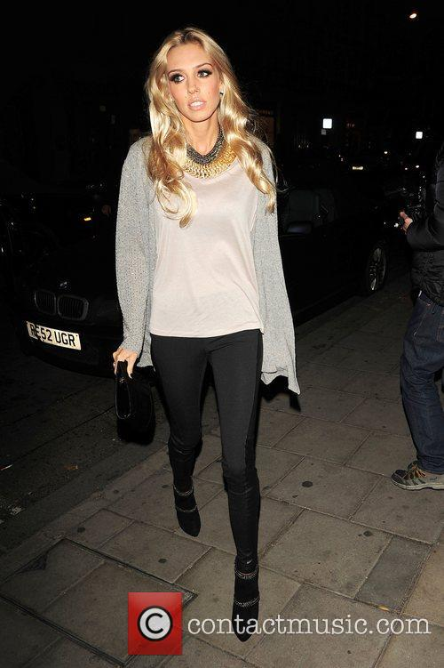 Celebrities leaving C London restaurant