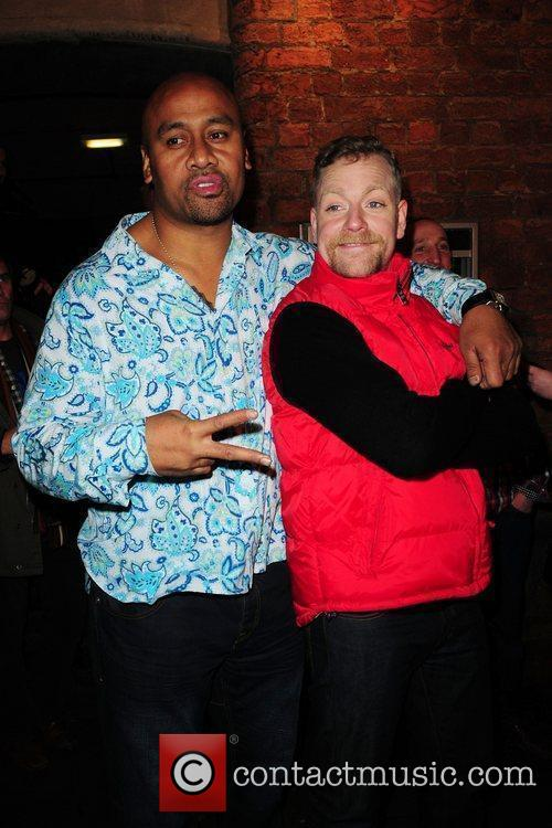Jonah Lomu and Rufus Hound Aftershow party for...