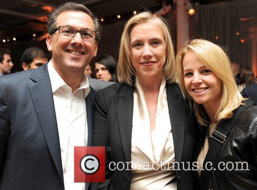 Jilly Stephens (center) with guests City Harvest hosts...