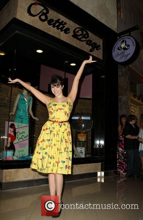 Claire Sinclair Bettie Page inside Miracle Mile Shops...