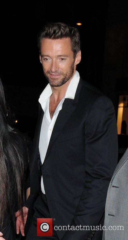 Hugh Jackman arriving at Claridge's Hotel,