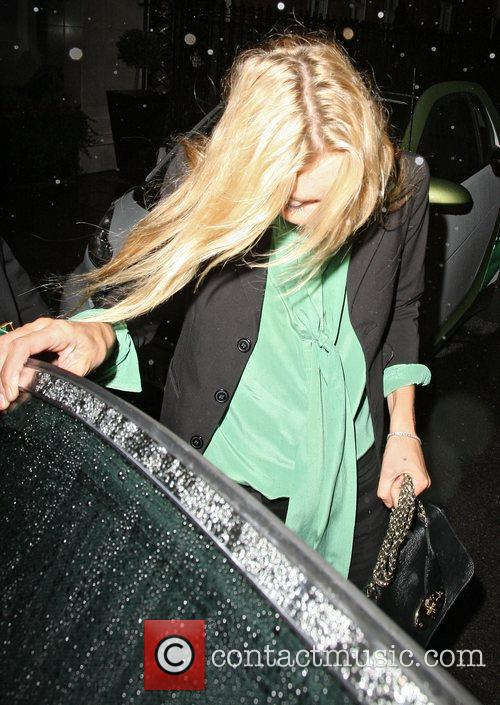 Kate Moss and Jamie Hince leaving Claridge's in...