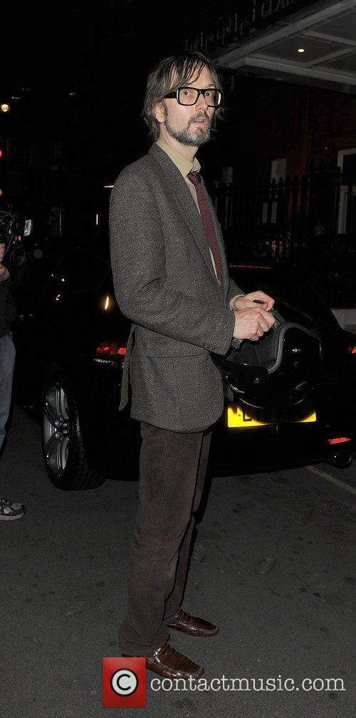 Jarvis Cocker leaves Claridge's Hotel London, England