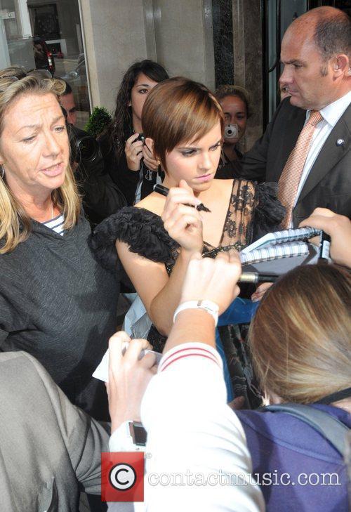 Emma Watson  outside Claridge's in Central London...