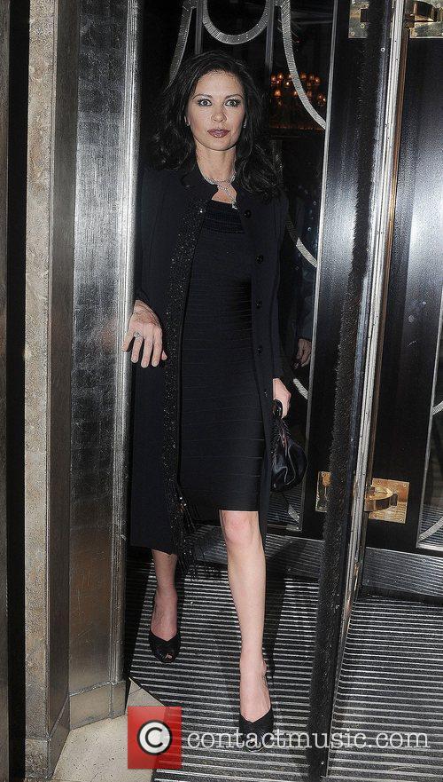 Catherine Zeta-Jones  celebrities outside Claridge's Hotel in...