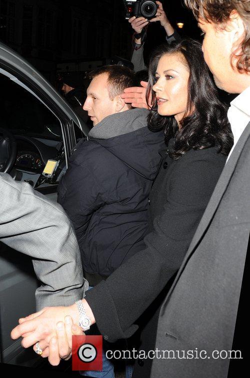 Catherine Zeta Jones outside Claridge's Hotel in London...