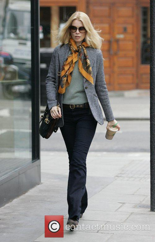 Claudia Schiffer  out and about in Notting...