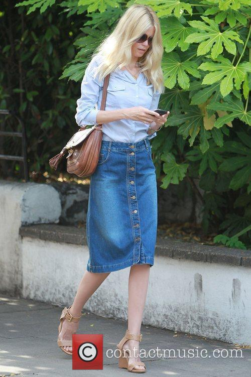 Claudia Schiffer heads to a photoshoot after dropping...