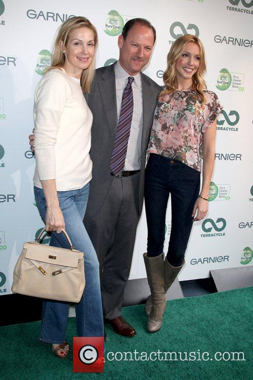 Kelly Rutherford, David Greenberg and Katie Cassidy Garnier...