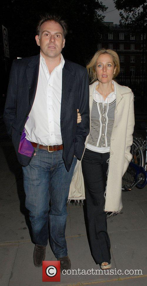 Gillian Anderson and Mark Griffiths at the Northern...