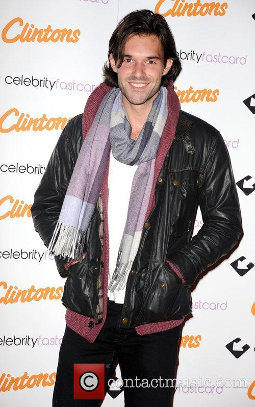 Bobby Sabel arrives at Clintons Celebrity Fastcard launch...