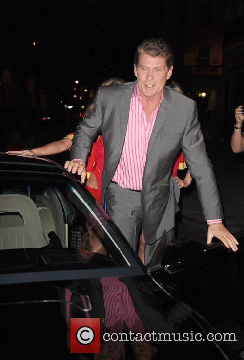 David Hasselhoff arrives at Clintons Celebrity Fastcard launch...