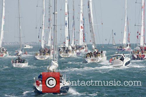 Atmosphere Clipper Round The World leaving Southampton in...