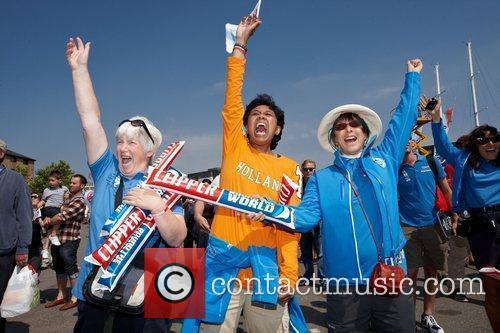 Supporters of Clipper De Lage Landen Clipper Round...